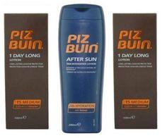 Piz Buin 1 Day LongTrio Sun Lotion Spf 15 X 2 - 100Ml Each & Tan Intensifier Aftersun 200Ml - http://best-anti-aging-products.co.uk/product/piz-buin-1-day-long-trio-sun-lotion-spf-15-x-2-100ml-each-tan-intensifier-aftersun-200ml/