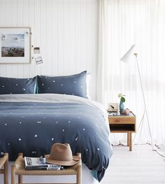 This is similar to our master bedroom - a window behind the bed --Design Covet Bedheads | Est Magazine