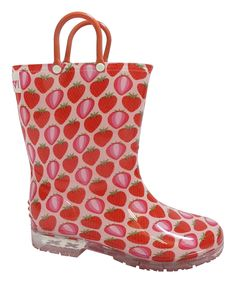 This Yokids Red Strawberry Melinda Rain Boot by Yokids is perfect! #zulilyfinds