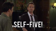 How I Met Your Mother Barney Self Five