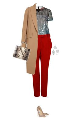 """""""How to Style Red Trousers"""" by outfitsfortravel ❤ liked on Polyvore featuring Christopher Kane, Carven, Alexander Wang, Christian Dior, Jimmy Choo, Michael Kors, Fendi, women's clothing, women and female"""