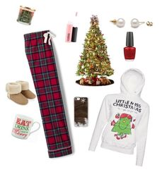 """XmasAM1"" by ida-christena-gammon on Polyvore featuring Lands' End, General Foam, Accessorize, Casetify, MAC Cosmetics, OPI and SONOMA Goods for Life"