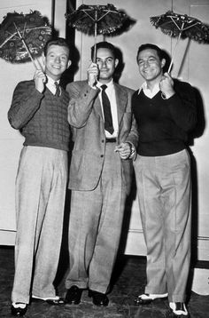 Donald O'Connor, Stanley Donen, and Gene Kelly - Behind the scenes of Singin' in the Rain (1952)