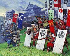 Japanese arquebusiers, Warring States