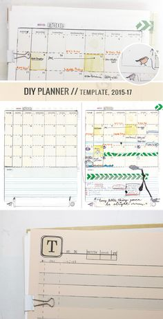 Make your own handmade, hand-drawn, mismatched diy planner full of doodles, goals, life plans and everything you. templates designed to leave lots of room Day Planner Template, Printable Planner, Printables, Planner Pages, Weekly Planner, Simple Business Plan Template, Discbound Planner, Perfect Planner, Day Planners