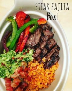 Steak Fajita Bowl: I love making Steak Fajita Bowls because it can be made with any left over steak or chicken from the day before. Make your…