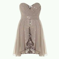 Cute sequined frock