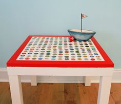 DIY Cheap and Chic Bottlecap Table - My So Called Crafty LifeMy So Called Crafty Life