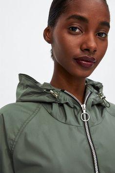 Imagine 4 din IMPERMEABIL CU FERMOARE de pe Zara Zara, Zip Ups, Raincoat, Fashion, Zippers, Rain Jacket, Moda, Fashion Styles