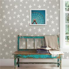 NU1932 - Stardust Grey Peel and Stick Wallpaper - by NUWallpaper