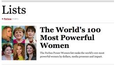 Forbes lists the The World's 100 Most Powerful Women!  Guess Who Are the Top 3? via @Forbes