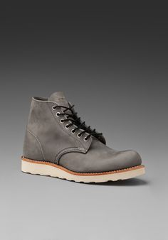 """red Wing Shoes Classic 6"""" Round Toe In Gray"" $240.00 - Buy it here: https://www.lookmazing.com/products/show/1808269?shrid=1669"
