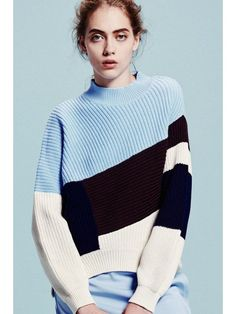 Geometric knit pullover.
