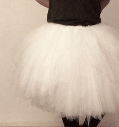 White tulle skirt #15 meters tulle White Tulle Skirt, Unique Dresses, Skirts, Fashion, Moda, Fashion Styles, Skirt, Fasion