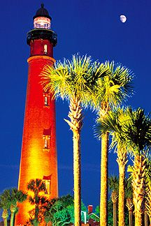Ponce Inlet Lighthouse  just south of Daytona Beach