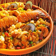 cuban paella. This is one of my favorite dishes on the planet...as long as there is no squid in it.