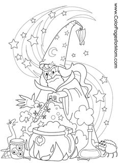 Black cat Coloring Pages To Print| Halloween Coloring Pages For ...
