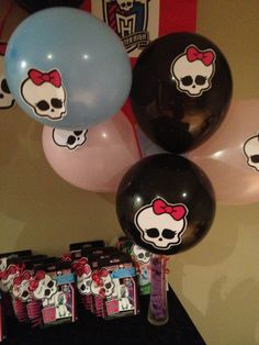Balloon decoration monster high party