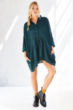 BDG Modern Drawstring Shirt Dress