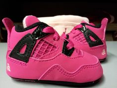 Baby Girls Jordan Retro Voltage Cherry Pink Suede Crib