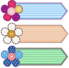 Illustration about Set of scrapbook banners with flowers and stitches. Illustration of advertisement, button, banner - 22182439 Frame Border Design, Boarder Designs, Page Borders Design, School Border, Boarders And Frames, Classroom Labels, Owl Classroom, Classroom Rules, School Frame