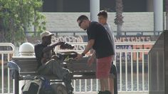 Giving The Homeless New Shoes and Shirt Off Back-  1 person can make a difference in a persons life