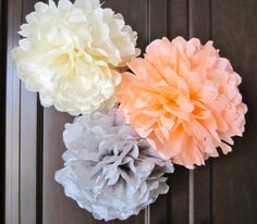 Tissue Paper Pom Poms ...another thing to make and use to decorate a table..