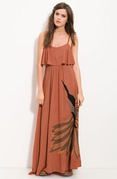 Free People 'Flock of Birds' Statement Print Maxi Dress - i need this!