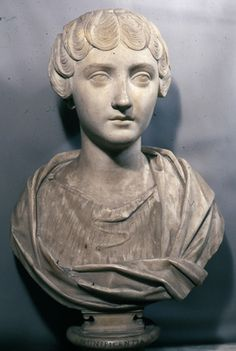 Portrait of young Faustina Minor    Sculpture    147-148 AD    Marble