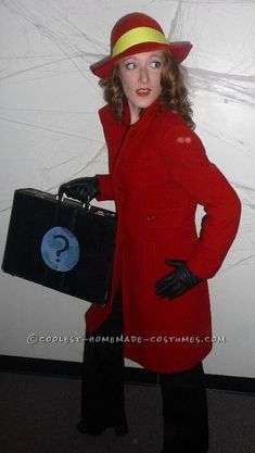 Awesome and Easy Carmen Sandiego Costume... This website is the Pinterest of costumes