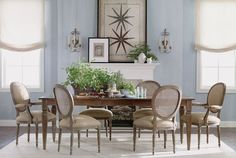 Buy Ethan Allens Antique Starfish Study Or Browse Other Products In Nature Avery Large Extension Dining Table