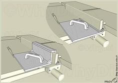 Two different accessories for miter gauge style push sleds