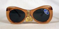 fabulous vintage sunglasses lunettes 1950 carved frame france rare