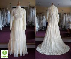 A beautiful vintage wedding dress from our shop Chippenham