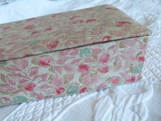 Fabric Covered Boxes, Fabric Boxes, Vintage Box, French Vintage, Decorative Storage Boxes, Design Floral, Boxes For Sale, Painted Boxes, Floral Fabric