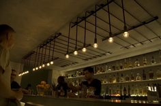 .PSLAB have designed the lighting for the Workshop kitchen and bar in Palm Springs, California
