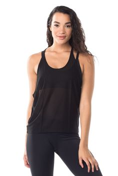 Show off a cute sports bra and stay cool in this T-Back Mesh Tank by Onzie. Shop now at www.evolvefitwear.com.
