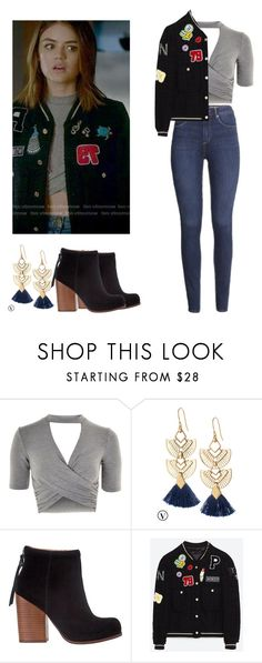 Aria Montgomery - pll / pretty little liars by shadyannon on Polyvore featuring moda, Topshop, Jeffrey Campbell, Stella & Dot and H&M