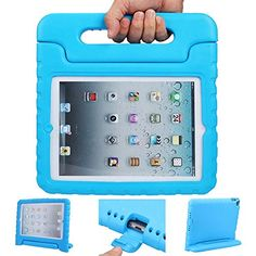 iPad mini case ANTS TECH Light Weight  Shockproof  Cases Cover with Handle Stand for Kids Children for iPad mini 3  iPad mini 2  iPad mini iPad Mini 123 Blue >>> Check this awesome product by going to the link at the image. This is Amazon affiliate link.