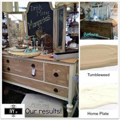Ivy Lane's before and after project - Beautiful buffet.