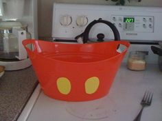 dollar store in all dif sizes.just stuck yellow buttons on them! you got mickey mouse buckets ; Mickey Mouse Classroom, Mickey Mouse Bday, Disney Classroom, Mickey Party, New Classroom, Mickey Mouse Birthday, Minnie Mouse Party, Classroom Themes, Elmo Party