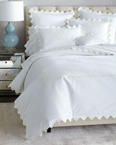 Shop Elora Bedding from Matouk at Horchow, where you'll find new lower shipping on hundreds of home furnishings and gifts. White Bedspreads, Affordable Bedding, Bed Styling, Bed Design, Comforter Sets, King Comforter, Bed Spreads, Luxury Bedding, Linen Bedding