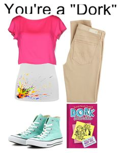 """Dork Diaries: Nikki Maxwell"" by katiemiller-v on Polyvore featuring AG Adriano Goldschmied, Converse, Rachel, M&Co and Milly"