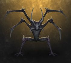 Nadubi - Usually appearing as humanoids with vicious spines and spikes sticking out of their legs and arms, these demonic shapeshifters resemble masses of living darkness in their true forms. They usually hunt using ambush, leaping out from the undergrowth of the Australian Outback and piercing their victims with their spikes. If this barb is not removed from the victim by a medicine man in time, the victim will die in agony.