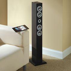 The Bluetooth Speaker Tower - Hammacher Schlemmer