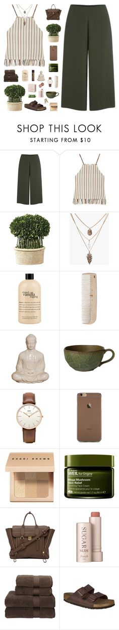 """""""Goldie"""" by daniaindria ❤ liked on Polyvore featuring Cameo, Miguelina, Uttermost, philosophy, HAY, Emissary, Daniel Wellington, Bobbi Brown Cosmetics, Origins and 3.1 Phillip Lim"""