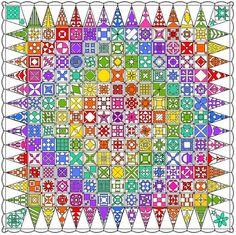 Sew Sweetness: Rainbow Dear Jane Quilt