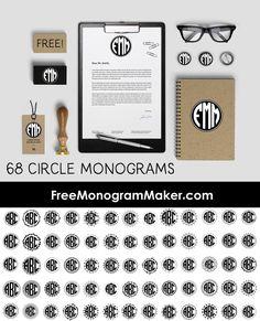 monogram generator to create circle monogram font free