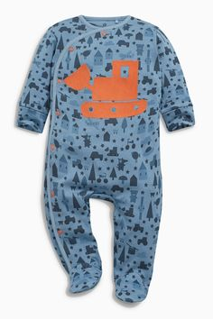 Buy Navy Car Print Sleepsuits Three Pack (0mths-2yrs) from the Next UK online shop