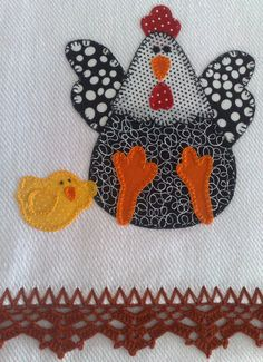 Hen and Chick Applique Templates, Applique Patterns, Applique Designs, Wool Applique, Applique Quilts, Embroidery Applique, Patch Quilt, Quilt Blocks, Easy Sewing Projects